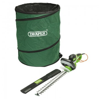 Electric Hedge Trimmer and Tidy Bag