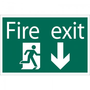 'Fire Exit Arrow Down' Safety Sign