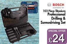 Titanium 103 Piece Drilling & Screwdriving Set – Now Only £24.00