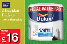 6 Litre Matt Emulsion  - Pure Brilliant White – Now Only £16.00