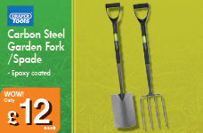 Carbon Steel Garden Fork – Now Only £12.00